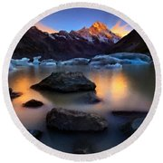 Landscape Painting Round Beach Towel