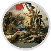 Liberty Leading The People Round Beach Towel
