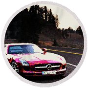 Mercedes Round Beach Towel