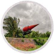 Military Weapons, Ballistic, Anti-aircraft, Medium-range Missile 5 Round Beach Towel