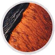 Molten Pahoehoe Lava Round Beach Towel