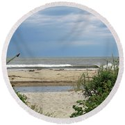 Moment In Time Round Beach Towel