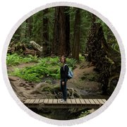 Montgomery Woods State Natural Reserve Round Beach Towel