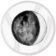 Moon Phase Round Beach Towel