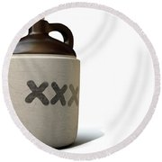 Moonshine Jug Round Beach Towel