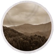 Nature Landscapes Around Lake Santeetlah North Carolina Round Beach Towel