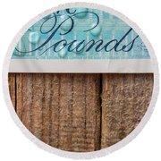 New Uk Five Pound Note Round Beach Towel
