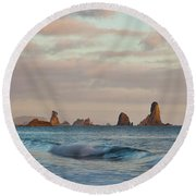 Olympic Peninsula Coast Round Beach Towel