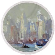 Pennell, New York City.  Round Beach Towel
