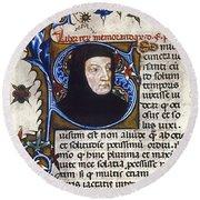 Petrarch (1304-1374) Round Beach Towel