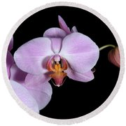 Pink Orchid IIi Round Beach Towel