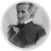 President Andrew Jackson  Round Beach Towel by War Is Hell Store