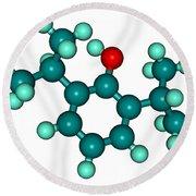 Propofol Diprivan Molecular Model Round Beach Towel
