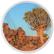 Quiver Tree Forest - Namibia Round Beach Towel