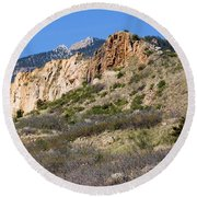 Red Rock Canyon Open Space Park Round Beach Towel
