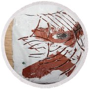 Rest  - Tile Round Beach Towel