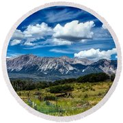 Rocky Mountain High Round Beach Towel