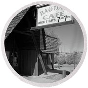 Route 66 - Bagdad Cafe Round Beach Towel