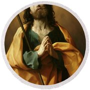 Saint James The Greater, Round Beach Towel