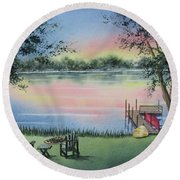 4 Seasons-spring Round Beach Towel