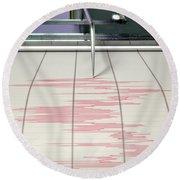 Seismograph Earthquake Activity Round Beach Towel