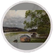 Shore Landscape Round Beach Towel