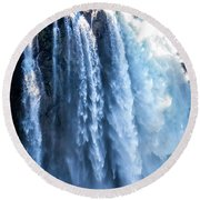 Snoqualmie Falls Washington State Nature In Daylight Round Beach Towel