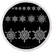 Snowflake Simulation Round Beach Towel