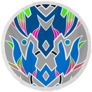 4 Space Ship Formation Round Beach Towel