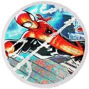 Spider-man Round Beach Towel