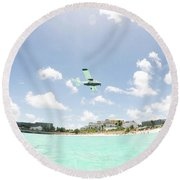 St. Marrten Caribbean Island Round Beach Towel