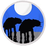 Star Wars At-at Collection Round Beach Towel