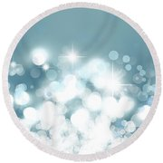 Stars  Round Beach Towel