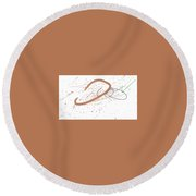 4 Stroke Round Beach Towel