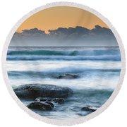 Sunrise By The Sea Round Beach Towel