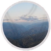 Sunrise Over Kings Canyon Round Beach Towel