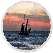 Sunset Key West  Round Beach Towel
