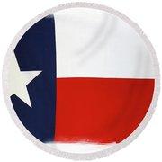Texas Flag Round Beach Towel