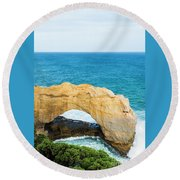 The Arch At Port Campbell National Park Round Beach Towel