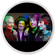 The Rolling Stones Round Beach Towel