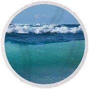 The Blue Sea Round Beach Towel