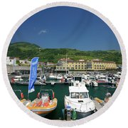 Vila Franca Do Campo Round Beach Towel