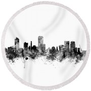 Wellington New Zealand Skyline Round Beach Towel