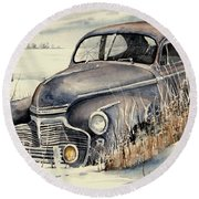 40 Chevy Round Beach Towel