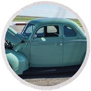 40 Ford Deluxe Round Beach Towel