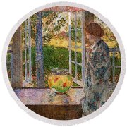 Hassam Round Beach Towel