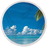 Landscape Oil Painting For Sale Round Beach Towel