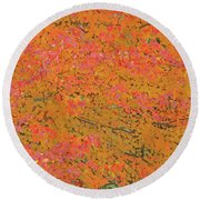 4139 Flaming Maple Round Beach Towel