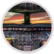 4245- Cockpit Round Beach Towel