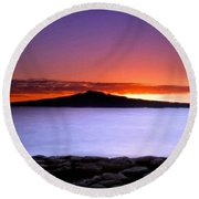 At Landscape Round Beach Towel